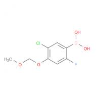 3-Chloro-6-fluoro-4-(methoxymethoxy)phenylboronic acid
