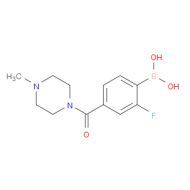 2-Fluoro-4-(4-methylpiperazine-1-carbonyl)phenylboronic acid