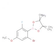 2-Bromo-4-methoxy-6-fluorophenylboronic acid pinacol ester